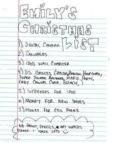 2008 christmas lists ruminations