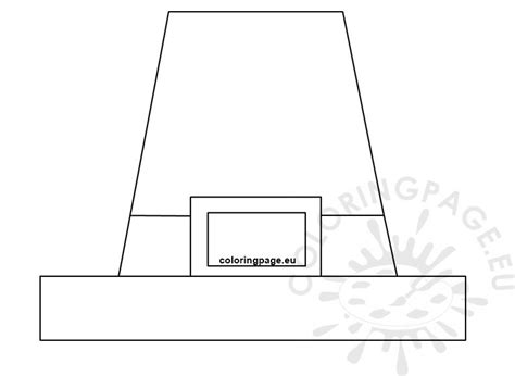 preschool pilgrim hat template printable coloring page