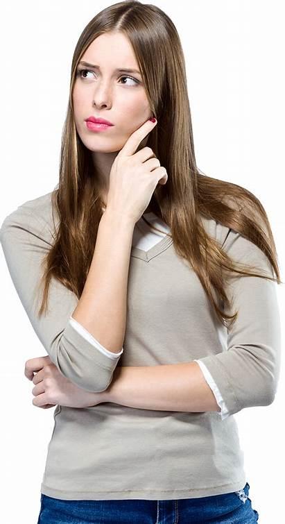 Thinking Woman Transparent Format