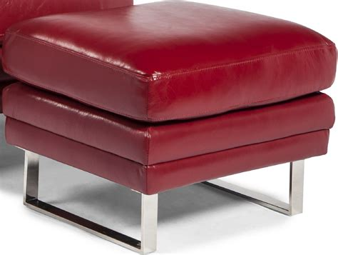 Ottoman Furniture Melbourne by Melbourne Berry Leather Ottoman From Lazzaro Coleman