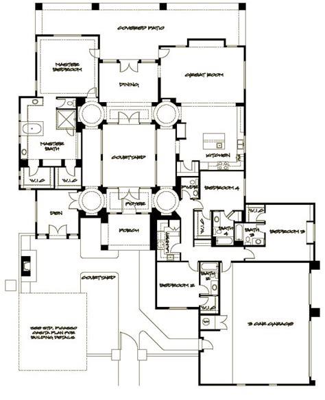 interior courtyard house plan called  picasso  sanctuary builder arizona house