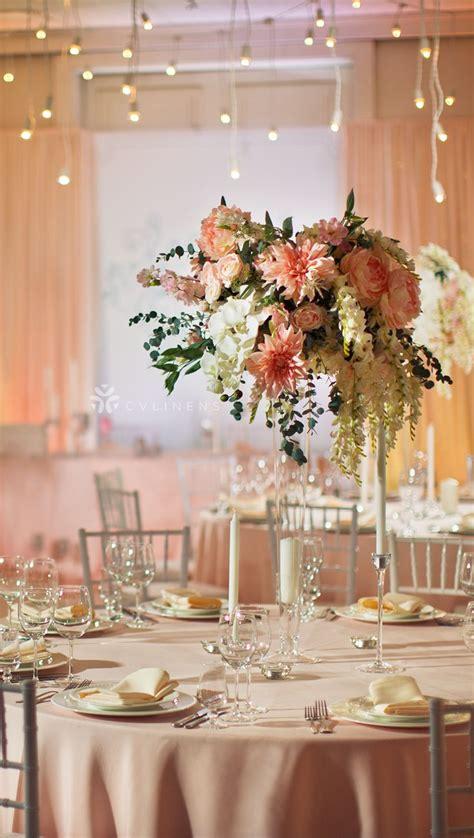 lamour satin   tablecloth blushrose gold