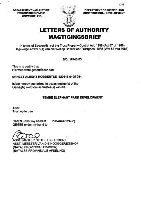 letter  trust  printable documents