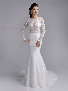 delicate lace appliques mermaid white wedding dress 2016 With delicate wedding dresses