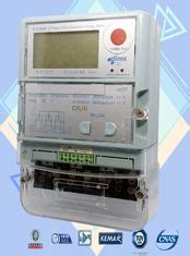 Automated Reading Commercial Electric Meter Three Phase