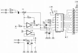 schematheek schema39s led vu meter With vu meter 1