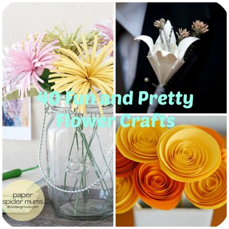 pretty paper flower crafts tutorials ideas