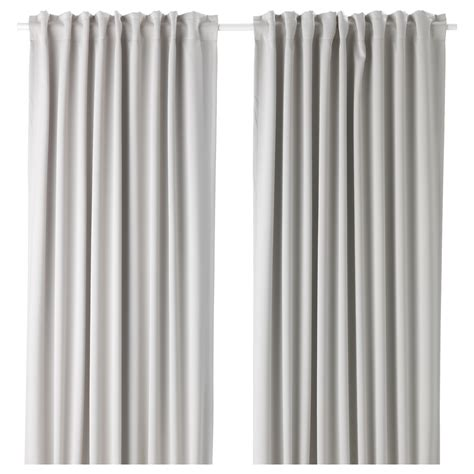 White And Gray Curtains Ikea by Majgull Block Out Curtains 1 Pair Light Grey 145x250 Cm