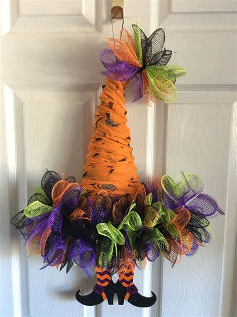 deco mesh witch hat halloween crafts crafts