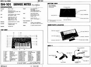 Synthfool Docs Roland Sh Series Sh101 Service Manual