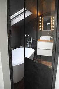 Salle De Bain Style Atelier : salle de bain baignoire lot porte verriere atelier home pinterest industriel salle ~ Teatrodelosmanantiales.com Idées de Décoration