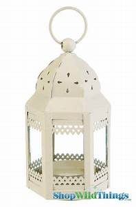 Fairy Lights In Hurricane Vase Beige Party Lantern Wedding Centerpieces Display Moroccan