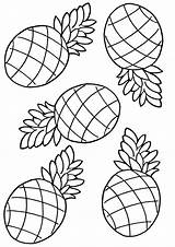 Pineapple Coloring Pages Pineapple2 sketch template