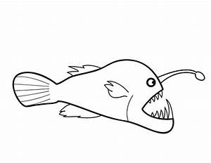 Angler Fish Coloring Page Getcoloringpagescom