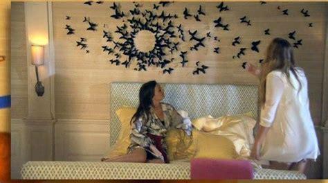 chambre gossip le mur de papillons de la chambre de serena der