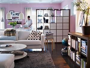 Wohnzimmer Design Ideen IKEA Raumteiler Schrank Ikea