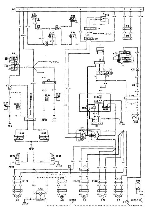 1994 volvo 940 radio wiring diagram volvo 940 1994 1995 wiring diagrams security anti