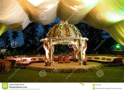 indian hindu wedding stageman royalty  stock