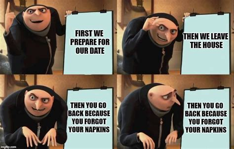 Gru Meme Template Despicable Me Diabolical Plan Gru Template Memes Imgflip