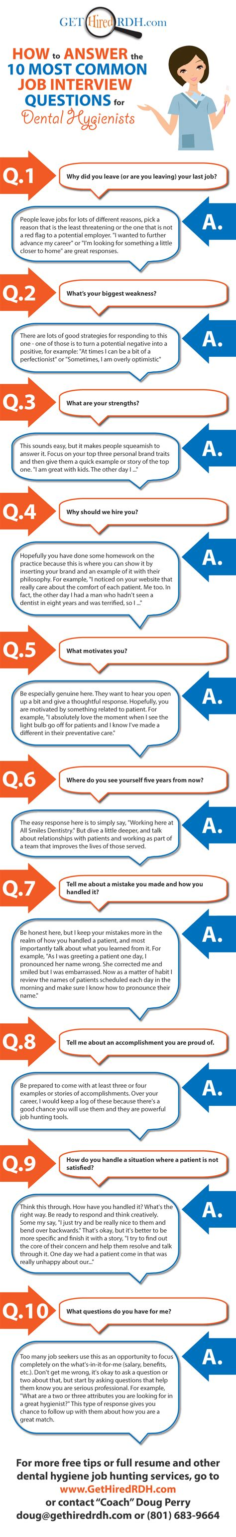 Questions For Dental Assistant by How To Answer The 10 Most Common Questions For