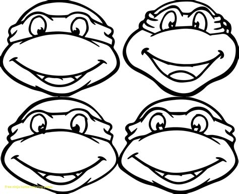 Tmnt Face Coloring Pages Download Coloring For Kids 2018