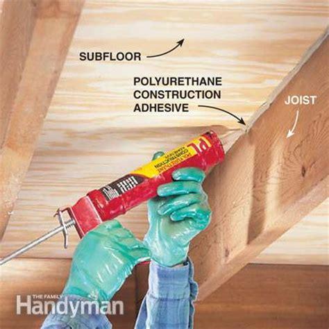 repair  squeaky floor  family handyman