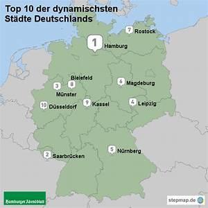 Schönsten Städte Deutschland : die 50 dynamischsten st dte in deutschland von abendblatt landkarte f r deutschland alle ~ Frokenaadalensverden.com Haus und Dekorationen