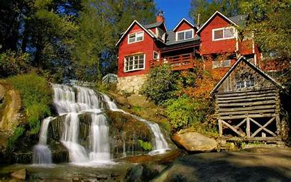 Wallpapers Houses Desktop Norway Fall Architecture Trees