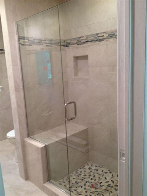 small walk  shower  seating tub  shower