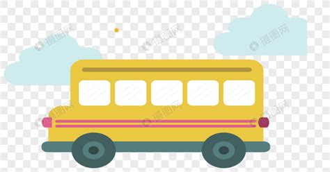 yellow cartoon school bus png imagepicture   lovepikcom