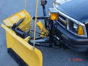 Plow   1246 Custom Boss V On Meyer Pump On Small Blaser S10 Truck