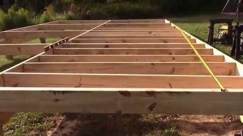 installing cabin floor joists  oc youtube