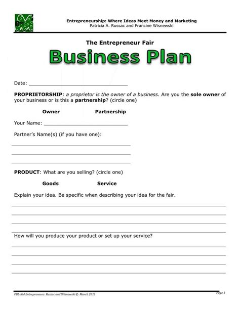 Basic Business Plan Template by Business Plan Business Plan Template Business Plan
