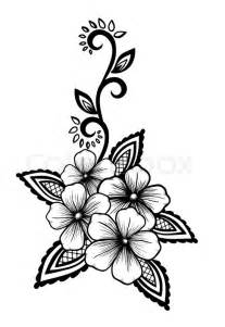 Black and White Flower Tattoo Design