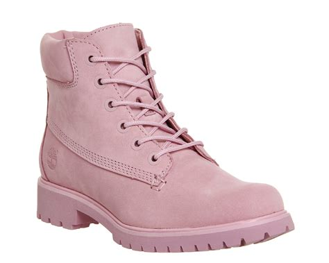 Timberland Boat Shoes Pink by Timberland Slim Premium 6 Inch Boots Pink Nubuck Exclusive