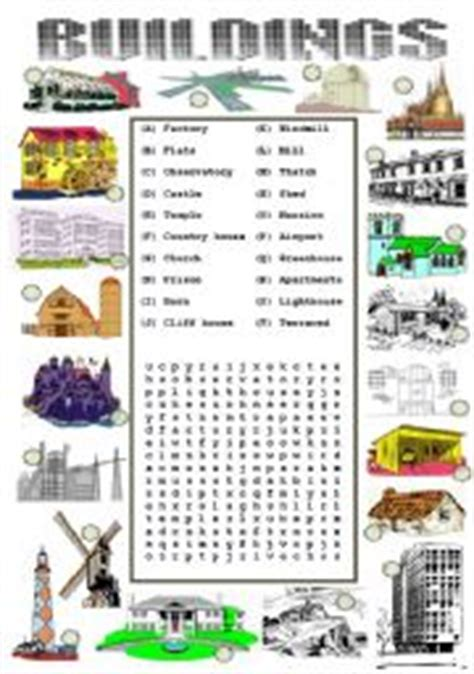 english teaching worksheets buildings