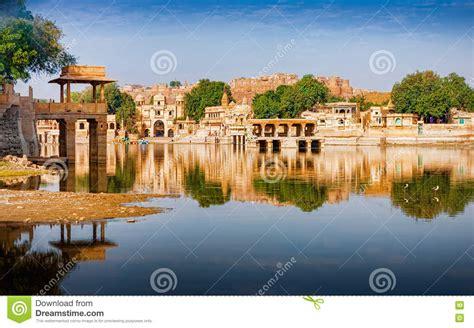 Gadi Sagar (Gadisar), Jaisalmer, Rajasthan, India, Asia ...