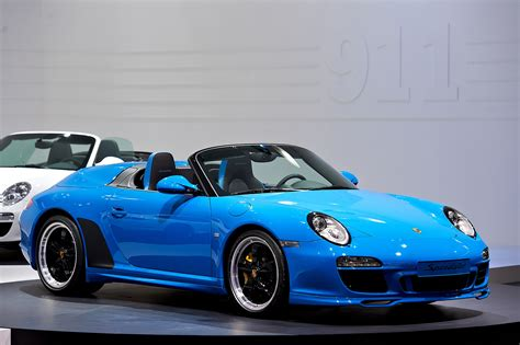 Blue Porsche 911 by Datei 2010 Blue Porsche 911 Speedster 997 Mondial