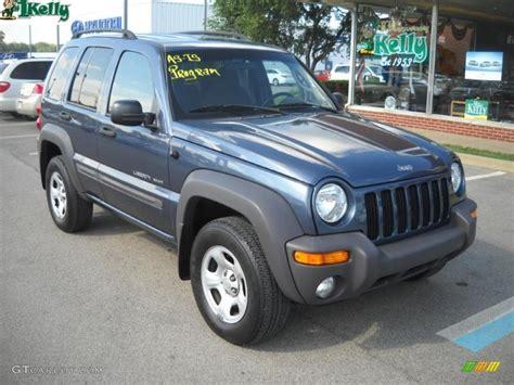 liberty jeep 2002 2002 steel blue pearlcoat jeep liberty sport 4x4 33802469
