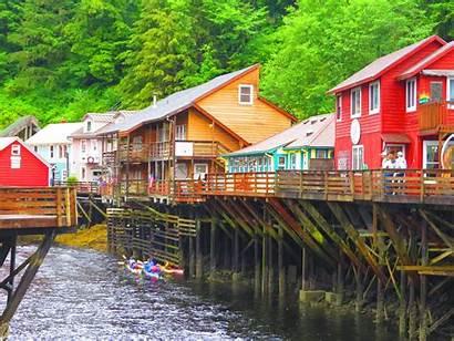 Ketchikan Alaska Creek Street Cultural Places Historical