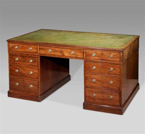 bureau desk antique partners desk large antique pedestal desk