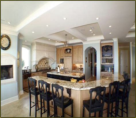 Kitchen Island Designs With Seating And Stove   Home