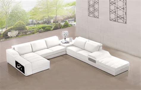 canap en blanc canapé panoramique cuir elegancia blanc canapé cuir