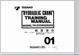Tadano Hydraulic Crane Tr