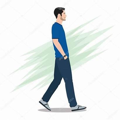 Walking Side Forward Vista Lopen Zijaanzicht Laterale