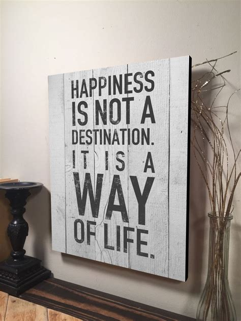 happiness    destination sign inspirational quote