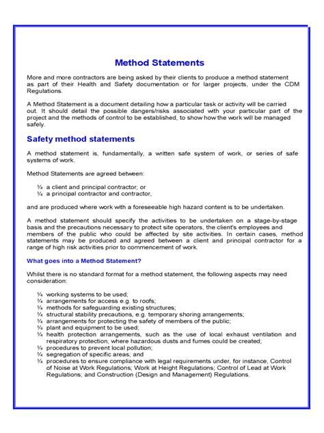 method statement exles free it resume cover letter sle