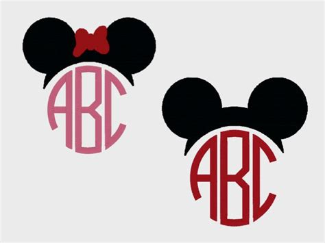 minnie mouse monogram mickey and minnie mouse monogram toppers embroidery files