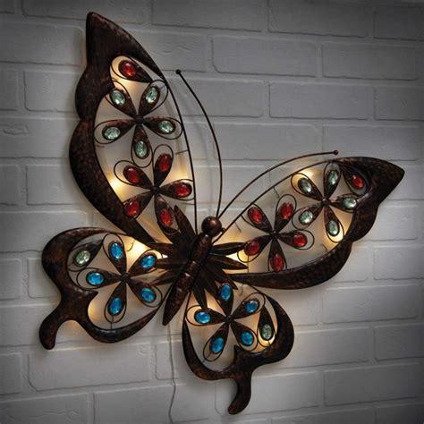 powertek large solar butterfly wall garden
