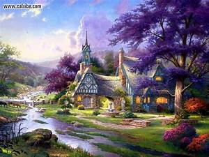 Finding the Design of Thomas Kinkade Wallpapers for ...